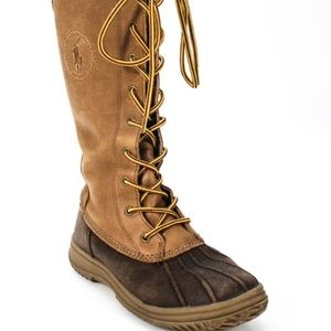 Polo Ralph Lauren Brown Leather Lace Up Boots 4